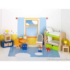 meuble pour chambre enfant meubles en bois chambre d enfants à l échelle d une maison de poupée