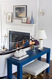 Blue Console Table Blue Console Table Transitional Living Room Benjamin