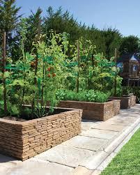 bradstone madoc wall used as a raised garden mediterranean