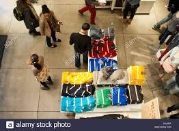 shoppers in the american eagle outfitters store in the herald square
