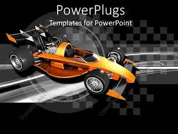 powerpoint themes free cars powerpoint template orange race car with black and silver checkered