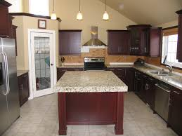 cabinets cherry wineberry countertops granite new venetian
