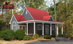houses with red metal roofs