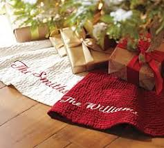 tree skirts pottery barn