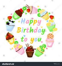 happy birthday you delicious vector illustration stock vector