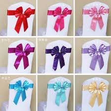 chair sashes wholesale butterfly self tie chair sashes elastic chair cover sashes band