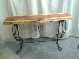 Wrought Iron Sofa Tables by Rustic Tables Serving Tray