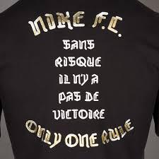 one rule mens clothing nike f c only one rule tee black 789404 010