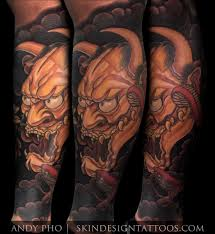 hannya mask tattoo black and grey hannya mask tattoo skin design tattoo