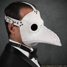 leather plague doctor mask plague doctor mask white leather plague doctor costume beak mask