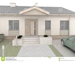 House Front View Classic House Design Front Side Stock Photography New View Of The