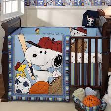 Snoopy Crib Bedding Lambs Team Snoopy 4 Crib Bedding Set Free Shipping