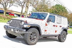 2017 jeep prototype next jeep wrangler spied nearly undisguised automobile magazine