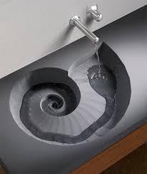 evier cuisine design un évier design en forme d escargot pour une touche d originalité