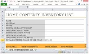 Simple Inventory Sheet Template Free Simple Inventory Management Template For Excel
