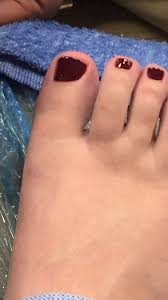 big toe bled throughout my pedi from the man cutting way too short