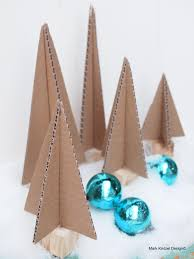 cardboard christmas tree fast craft holidays cardboard christmas trees