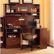 Computer Desk With Hutch Cherry Bush Cabot 60 Corner Computer Desk With Hutch In Harvest Cherry