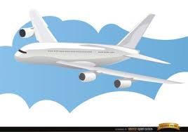 imagenes animadas de aviones avión volando sobre las nubes descargar vectores gratis