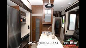 2017 heartland cyclone 4113 fifth wheel toy hauler in claremore
