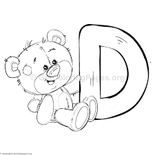 teddy bear alphabet letter d coloring pages u2013 getcoloringpages org