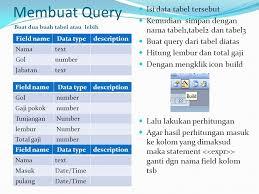 membuat query tabel selamat datang di microsoft access ppt download