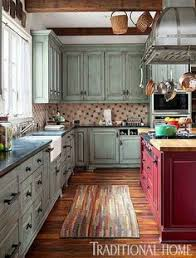 kitchen colors ideas painted kitchen step inside this traditional soft green kitchen