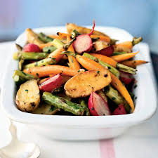 Roasted Vegetable Recipes by Roasted Baby Spring Vegetables Recipe Myrecipes