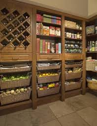 Kitchen Pantry Cabinet Design Ideas Good Design Ideas Kitchen Pantry With Wine Rack And Baskets Good