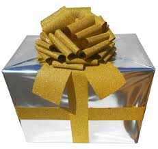gold glitter car new giant car bow 30cm diameter with 3m ribbon gold glitter