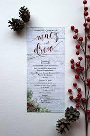 christmas wedding programs winter wedding program template snowflakes silver printable