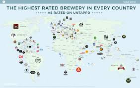Nepal On A World Map by Map The Highest Rated Brewery In Every Country Vinepair