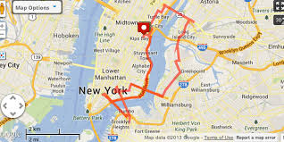 map of new york and manhattan fathom six great running routes in nyc