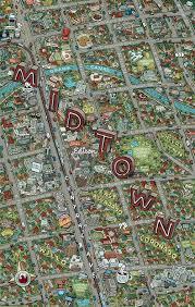 Phoenix Map by Mario Zucca Phoenix Midtown Map Ps Studios