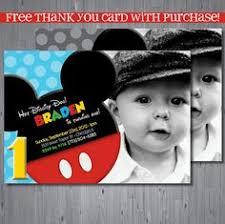 free printable mickey mouse 1st birthday invitation birthday