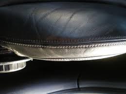 reparer siege cuir réparer un côté de siège en cuir noir intérieur véhicule fos sur