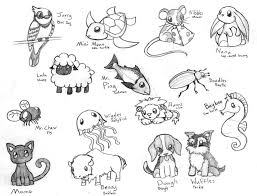 baby animals sketch cute cartoon animals coloring pages pictures 2