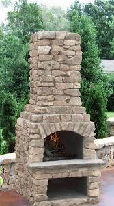 outdoor stone fireplace 24 veranda series outdoor fireplace kit with natural stone veneer