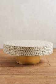 white tiled brass coffee table