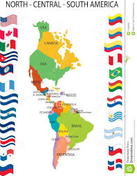 Cuba South America Map by North Central South America Stock Photo Image 11082690