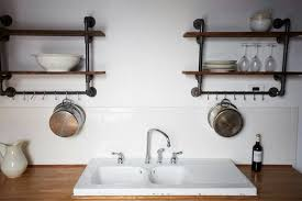 Industrial Faucets Kitchen by Steal This Look Hudson Milliner Kitchen In New York Remodelista