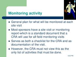 monitoring report template clinical trials management of clinical trials sponser perspective from falgun vyas