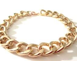 bracelet from chain images Gold chain bracelet etsy jpg