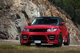 red land rover red lumma design range rover clr rs gtspirit