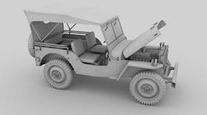 military jeep full w chassis jeep willys mb military top rev by dragosburian