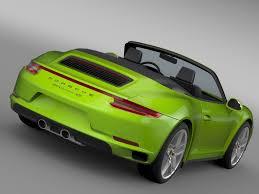 porsche 911 2016 porsche 911 carrera 4s cabriolet 991 2016 3d model max obj 3ds fbx