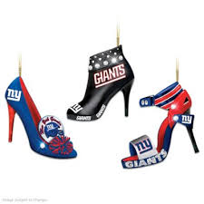 nfl new york giants steppin out stiletto shoe ornament collection