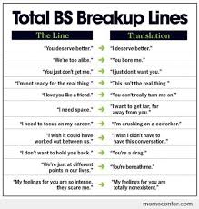 Real Relationship Memes - break up lines real meanings by ben meme center