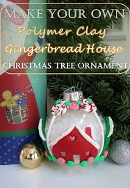 diy craft tutorial make your own polymer clay gingerbread house