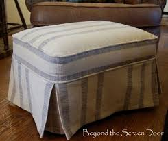 Covers For Ottomans The Trendy Ottoman Slipcovers Home And Textiles